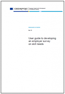 User guide to developing an employer survey on skill needs Cedefop