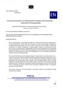 SD2-2 - Council Conclusions on fostering the creative and innovative potential of young people_0-page-001